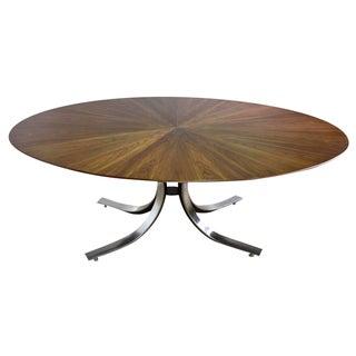 Borsani Dining Table W/Starburst Pattern Wood Top