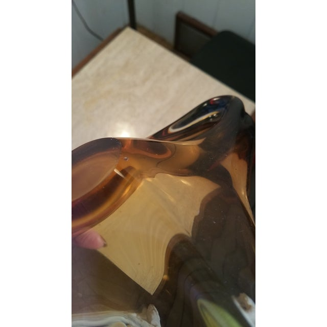 "Vintage Murano Seguso Art Glass, ""Boomerang Bowl"" - Image 7 of 7"