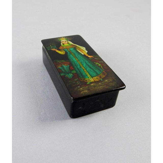 Russian Hand Painted Lacquer Box - Image 3 of 7