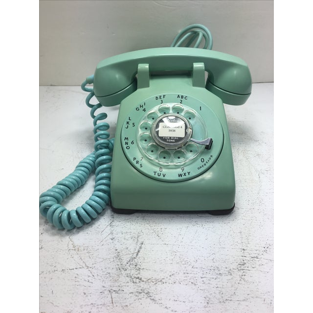 Turquoise 500 Rotary Dial Desk Phone - Image 11 of 11