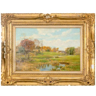 Olive Parker Black Autumn Landscape Oil Painting on Canvas