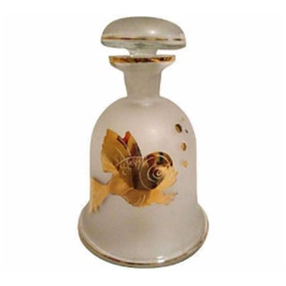 Gold Fish Frosted Glass Decanter