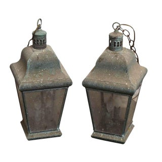 Vintage Hanging Lanterns - A Pair
