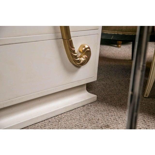 Jansen Hollywood Regency White Painted Dresser - Image 5 of 7