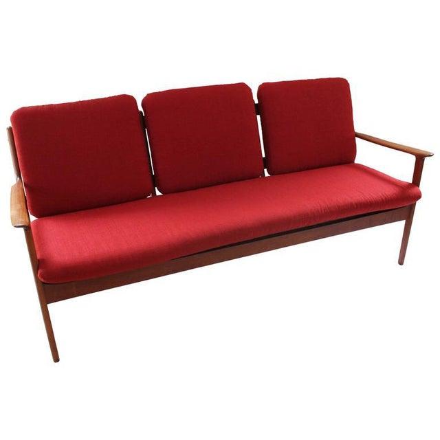Danish Modern Sofas: 1960 Danish Modern Teak Ole Wanscher Sofa