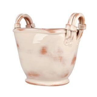 Italian Glazed Clay Pottery Planter