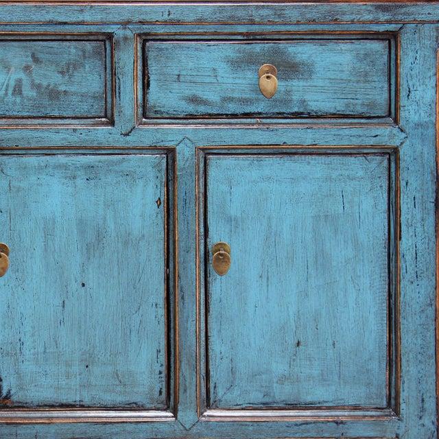 Image of Blue Reclaimed Elm Wood Sideboard