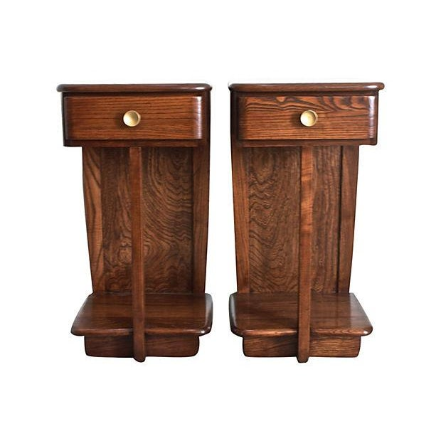 Early Mid-Century Modern Nightstands - A Pair - Image 1 of 6