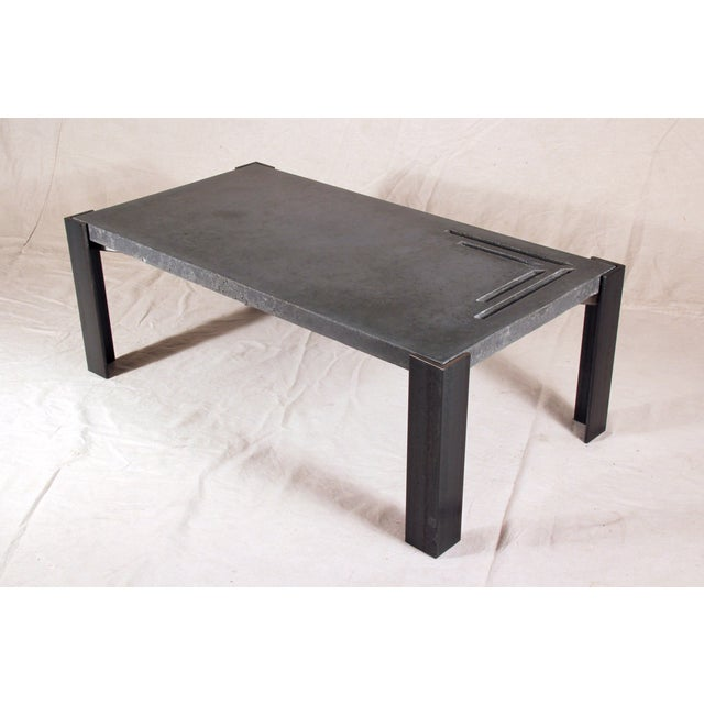 Image of Industrial Black Concrete Coffee Table