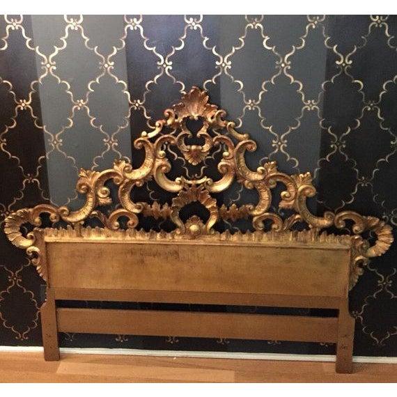 Florentine Gilded Rococo Headboard - Image 2 of 7