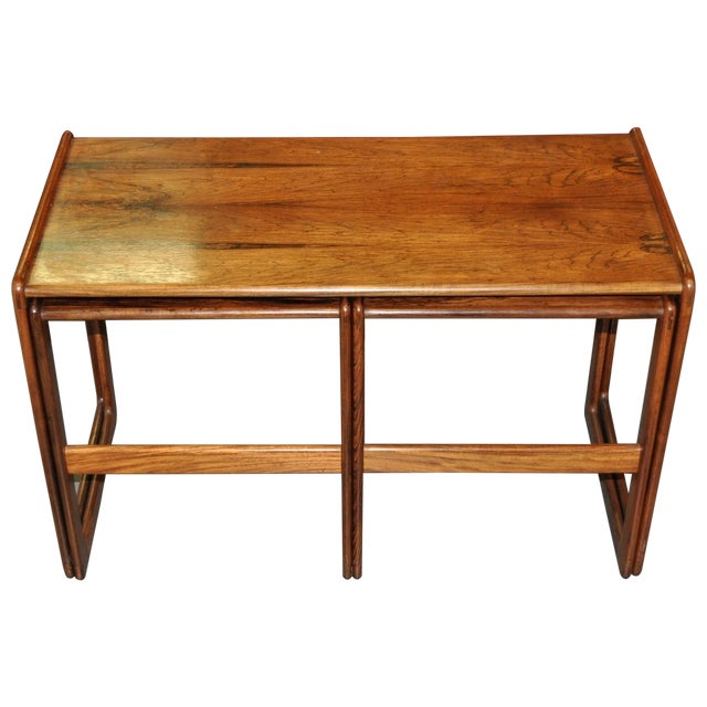Vintage Rosewood Nesting Coffee Tables C.1960's - Image 1 of 4