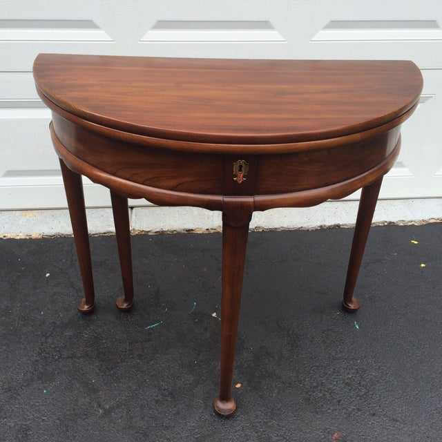 Demilune Mahogony Game Table - Image 2 of 6