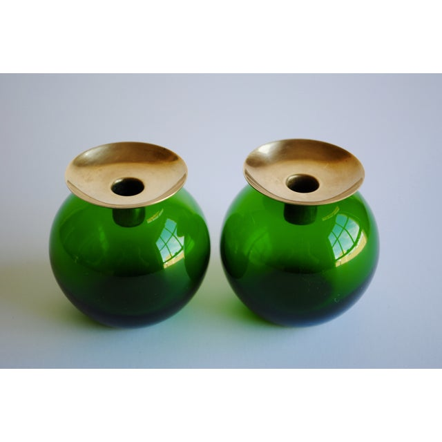 Image of Mid Century Swedish Candleholders - A Pair