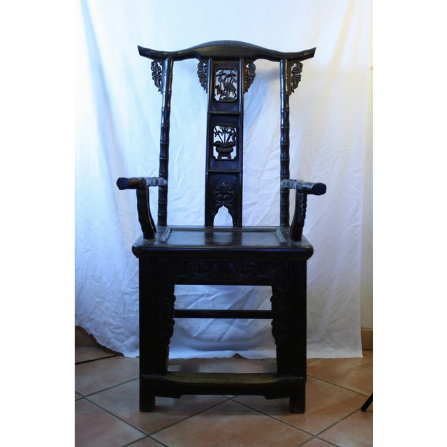 Image of Antique Chinese Armchair Bamboo Style