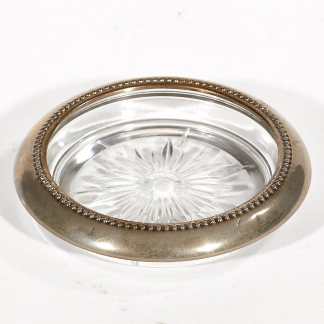 Vintage Silver Plate & Glass Coasters - Set of 7 - Image 3 of 4