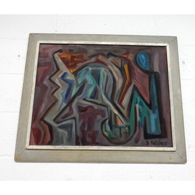 Image of Original D Felsher Abstract Oil Painting
