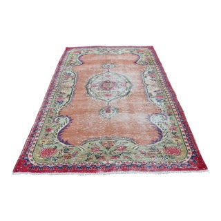 Turkish Handwoven Carpet - 5′1″ × 8′6″