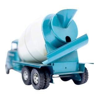 Metallic Blue Cement Mixer Photograph
