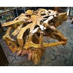 Image of Vintage Retro Burled Wood Table