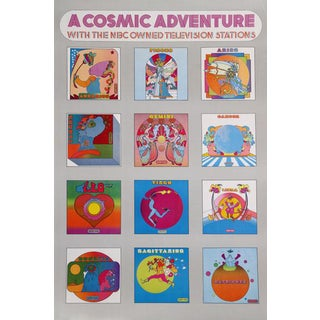 "1970 Peter Max ""A Cosmic Adventure"" Poster"