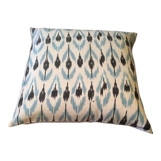 Blue & Black Ikat Pillow