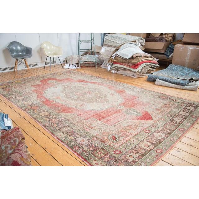 "Distressed Oushak Carpet - 7'6"" X 12'6"" - Image 2 of 10"