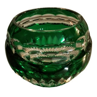 Faberge Emerald Crystal Votive