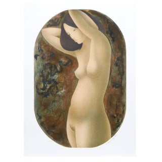 Alain Bonnefoit - Standing Nude Lithograph