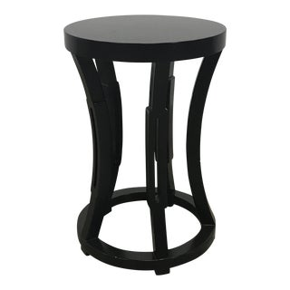 Black Taboret Drum Side Table