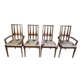 Walnut Broyhill Brasilia Dining Chairs - Set of 4