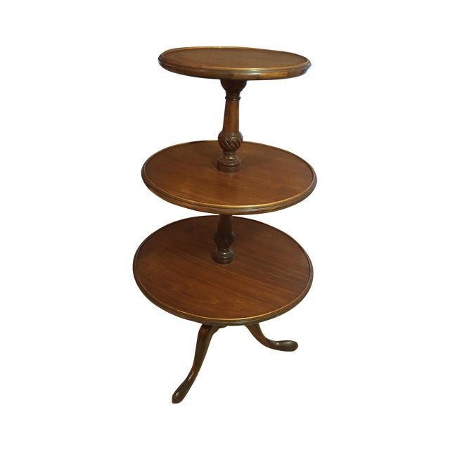 3-Tiered Butler Tripod Table - Image 1 of 8