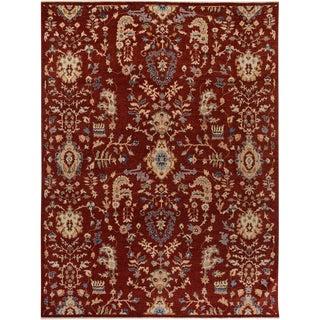 Kafkaz Peshawar Branden Red/Tan Wool Rug - 9'2 X 11'11