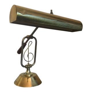 Mid-Century Brass Desk Lamp or Piano Lamp