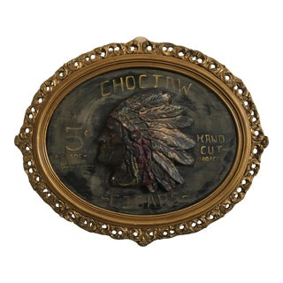 Choctaw Cigar Advertising Wall Plaque
