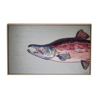 "Matthew Frederick ""Sockeye Salmon"" Oil on Canvas"