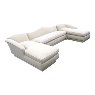 Exquisite Ivory Sectional Sofa Settee Chaise Lounge