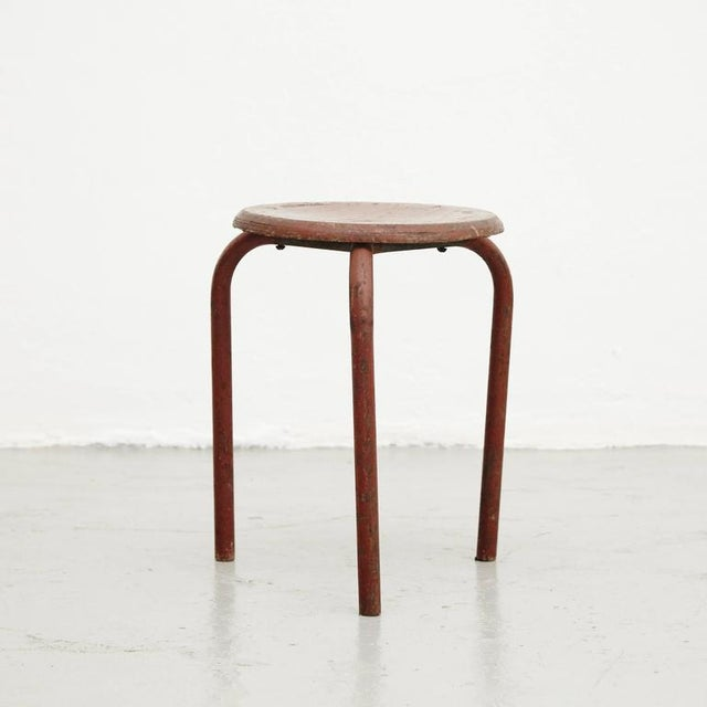 Stool Attributed to Jean Prouvé, circa 1950 - Image 3 of 6