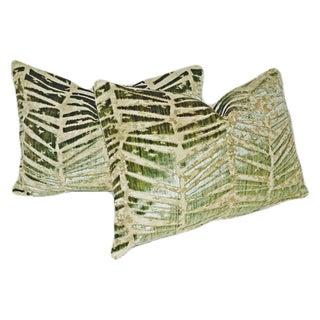 Brunschwig & Fils Crystallo Cut Velvet Pillows - A Pair