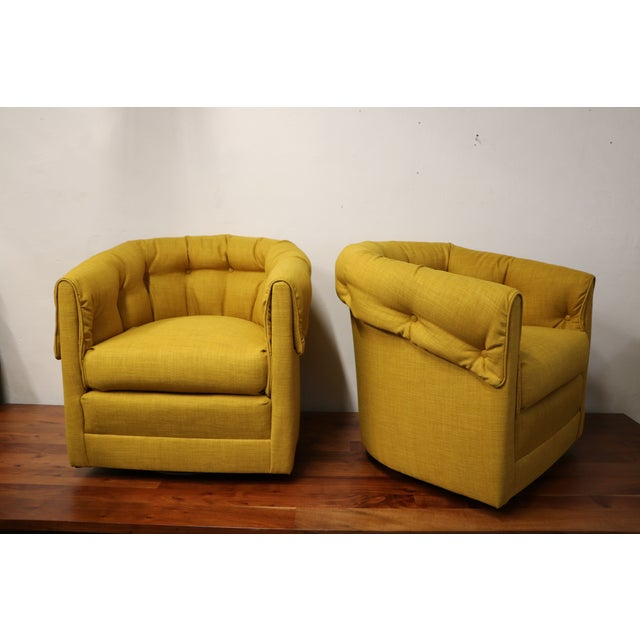 Vintage Swivel Lounge Chairs - A Pair - Image 4 of 6