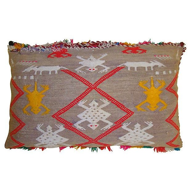 Moroccan Pillow with Berber Tattoo Design - Image 2 of 2