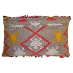 Image of Moroccan Pillow with Berber Tattoo Design
