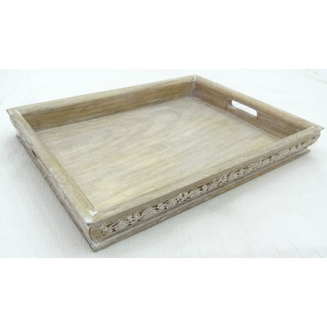 Image of Hand Carved Jasmine Mango Wood Tray