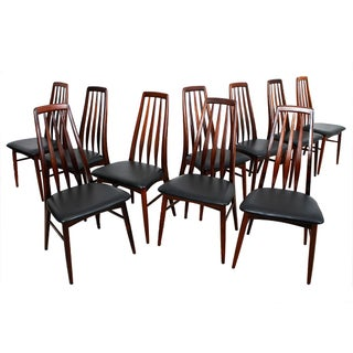 Koefoed Hornslet Rosewood Dining Chairs - Set of 10