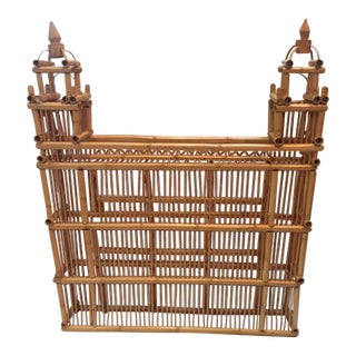 Oversized Rattan & Bamboo Building With Towers