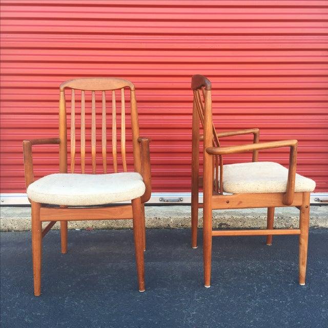 Danish Modern Style Teak Dining Chairs - Set of 6 - Image 9 of 11