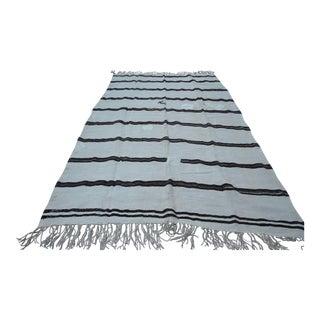 Turkish Striped Hemp Kilim - 6′5″ × 10′4″