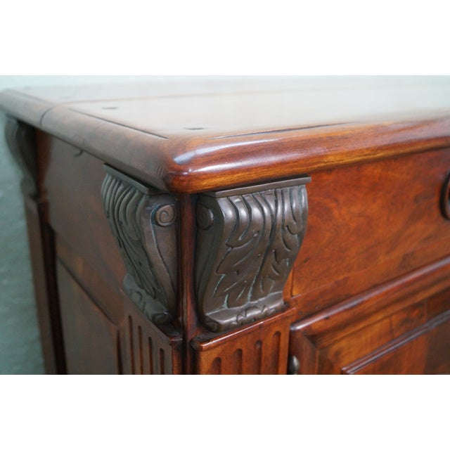 Quality Solid Mahogany Rustic Continental Server - Image 8 of 10
