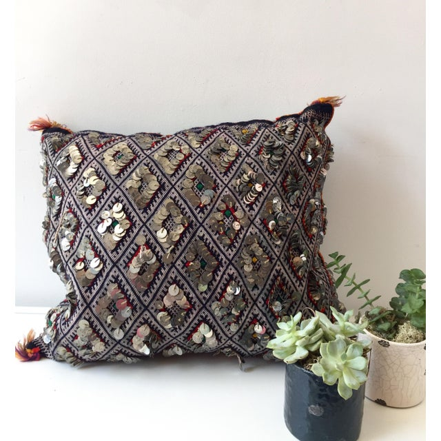 Moroccan Dhurrie Throw Pillow - Image 6 of 6