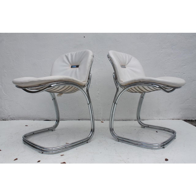Gastone Rinaldi Italian Chrome Chairs - Set of 4 - Image 7 of 11
