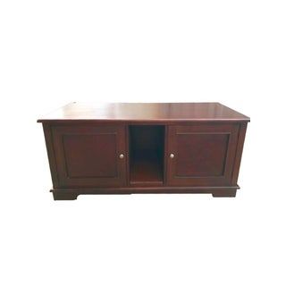 Solid Mahogany Contemporary Entertainment Console
